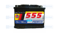 Аккумулятор 555 74Ah (-/+) (720EN) ЕВ