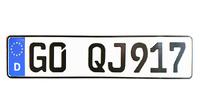 Авто номера с оригинальным (немецким шрифтом)