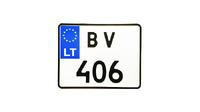 Номер на иностранный мотоцикл (сувенир)