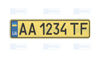 Номера для такси с лицензией